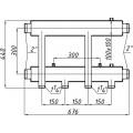 Гребінка Термоджет К-42 Н. 125 4-вхідна сквозна нижня