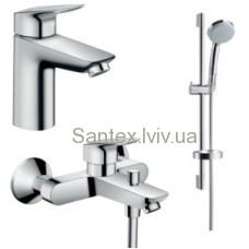 Змішувач HANSGROHE Logis 70 набір для ванни комлект 710714311 (71070000+71400000+27764000)