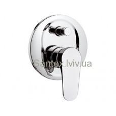 Змішувач REMER GLASS LINE душ підстінний+перемикач L 09